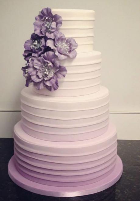 20 Beautiful Pink and Purple Wedding Cakes