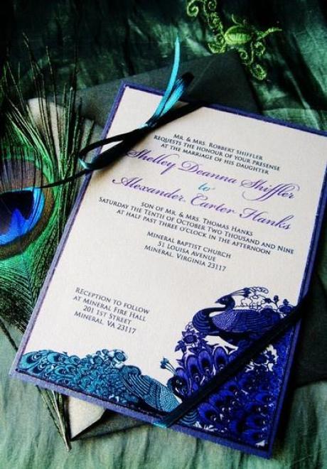 Peacock Wedding Theme 16