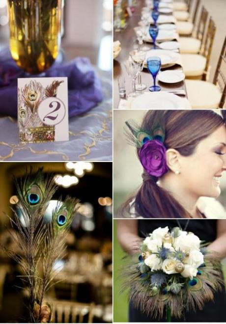 Peacock Wedding Theme 17