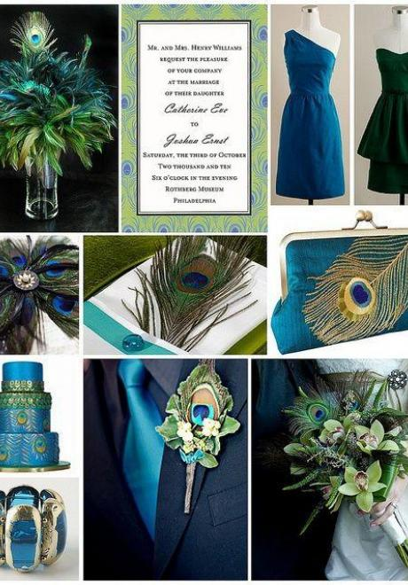 Peacock Wedding Theme 15