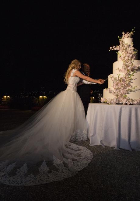 حفل زفاف حازم وبيانكا في بحيرة كومو