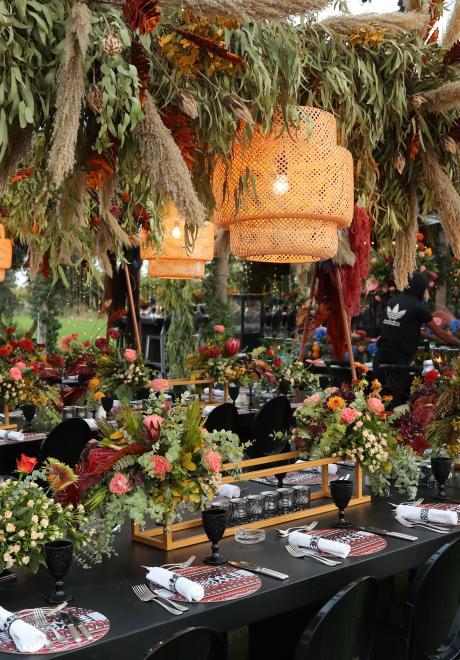A Vivid Tribal Bohemian Pre-Wedding Party in Jordan