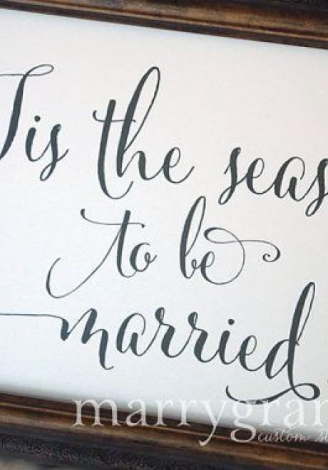 Beautiful Winter Inspired Signs For Your Wedding