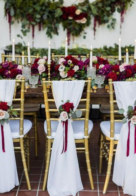 Winter Wedding Chair Decorations You'll Love