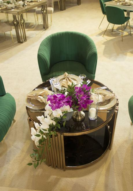 Orchids and Emerald Wedding in Doha