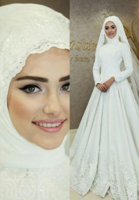 Beautiful Bridal Hijab Looks from Instagram