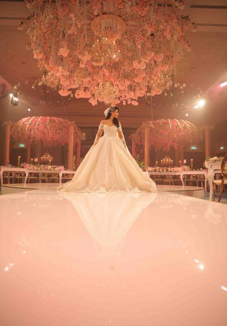 A Pink Forest Wedding in Dubai