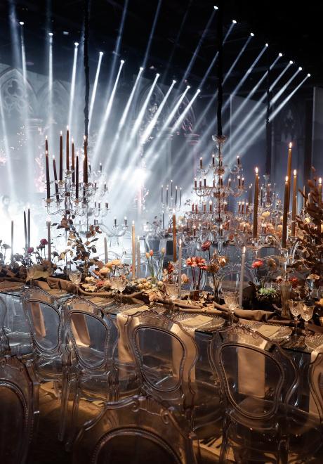 حفل زفاف شتوي فاخر في لبنان