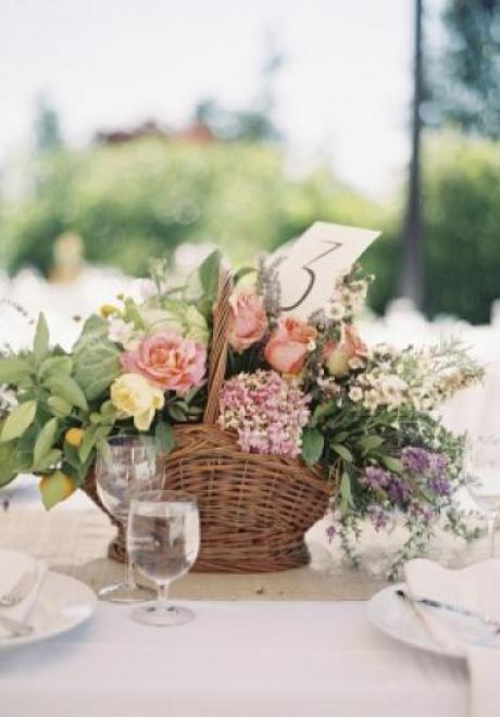 Trendy Ways to Include Baskets in Your Spring Wedding