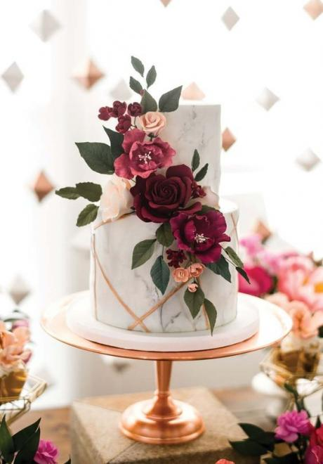 Floral Wedding Cakes Just in Time For Spring