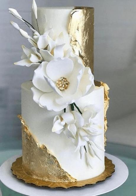 صرعة كيك الزفاف: زينة الجليتر لكيك الزفاف