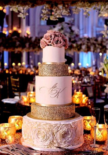Wedding Cake Trend: Glitter Wedding Cakes
