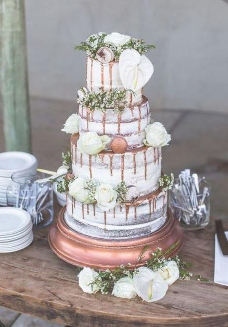 Wedding Cake Idea: Color Drip Wedding Cakes