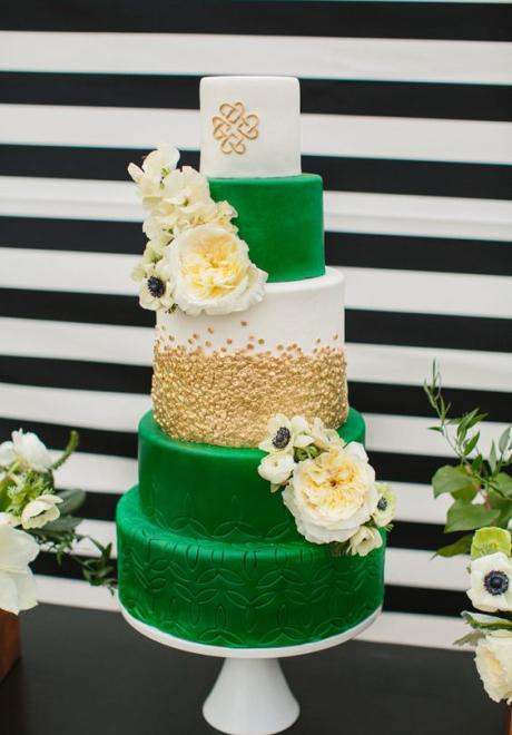 12 Beautiful Green Wedding Cakes