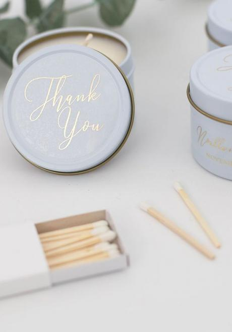 Stunning Candle Wedding Favors