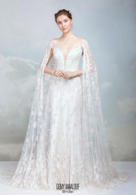 Wedding Dresses with Capes For Brides Who Wear Hijab
