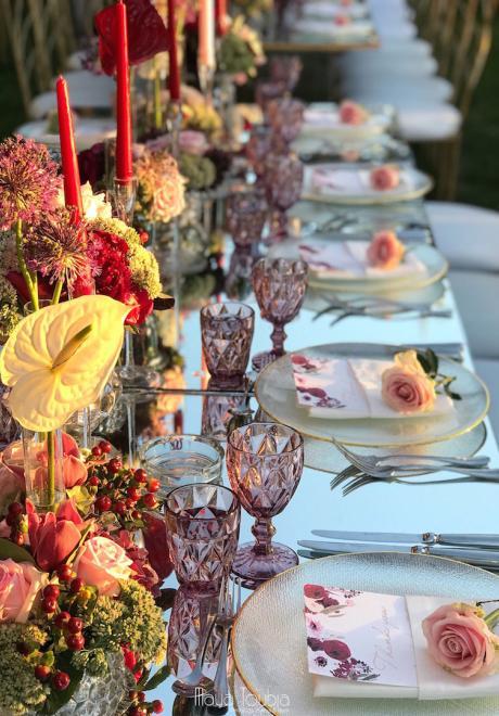A Burgundy Garden Wedding in Lebanon