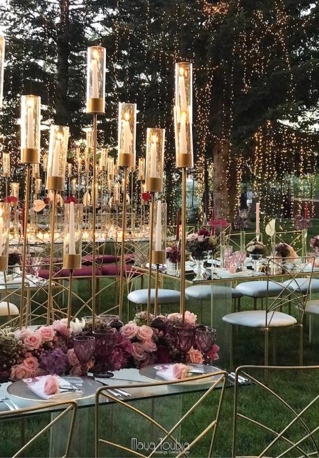 حفل زفاف بثيم حديقة البرغندي في لبنان