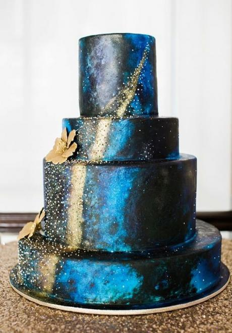 Magical Galaxy-Inspired Wedding Cakes and Desserts