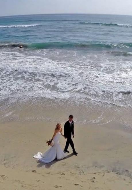 أحدث صرعات تصوير حفلات الزفاف: طائرة بدون طيار للتصوير الجوي