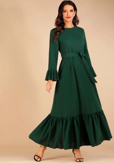 Long Sleeved Maxi Dresses For Ramadan