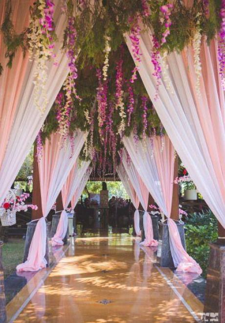 أفكار رائعة لزينة مدخل قاعة حفل الزفاف