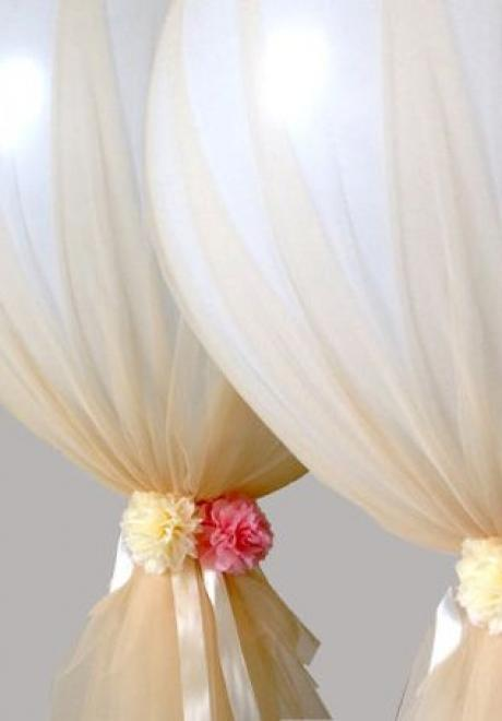 Chic Tulle Balloons for Your Bridal Shower
