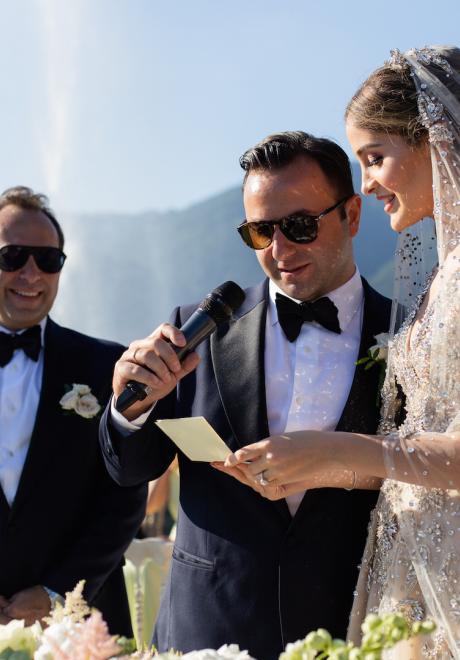 حفل زفاف لبناني أنيق في بحيرة كومو