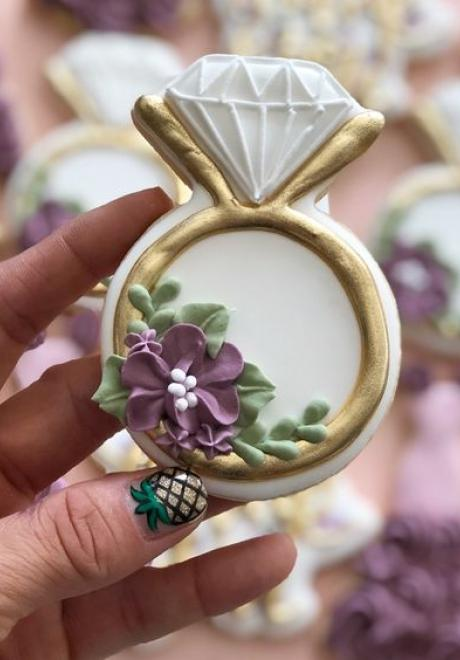 أفكار جميلة لحلويات الكوكيز في حفل الزفاف