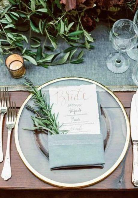 Greenery Wedding Table Settings 11