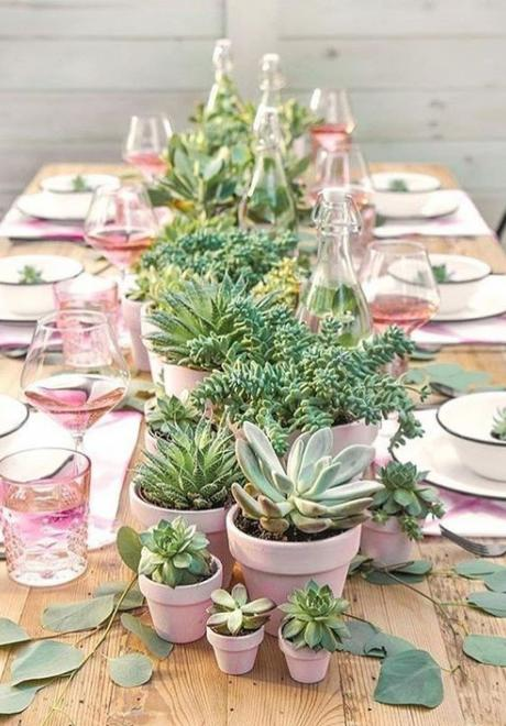 Greenery Wedding Table Settings 10