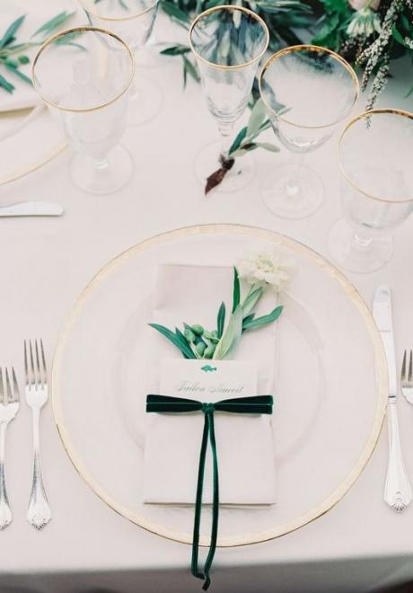 Greenery Wedding Table Settings 2