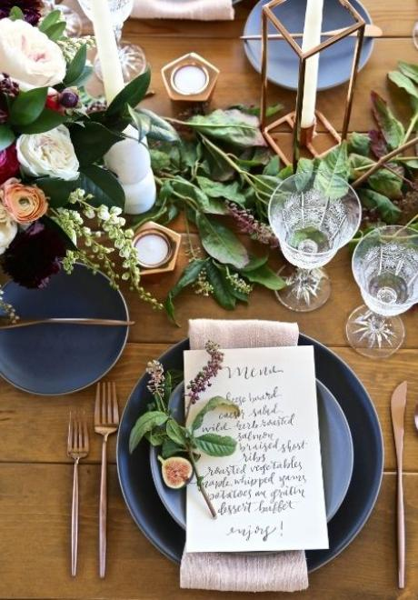 Greenery Wedding Table Settings 3