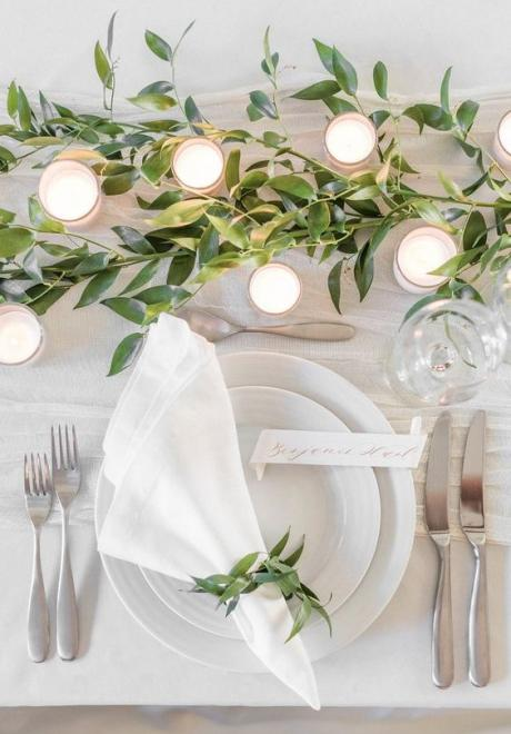 Greenery Wedding Table Settings 5