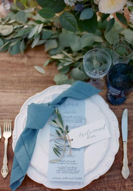 Greenery Wedding Table Settings 6