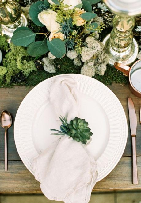 Greenery Wedding Table Settings 7