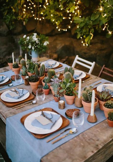 Greenery Wedding Table Settings 8