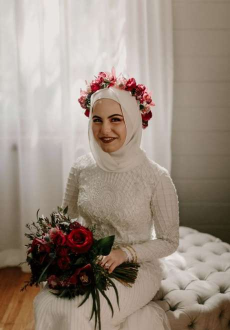 Floral Crowns for Bridal Hijab 11