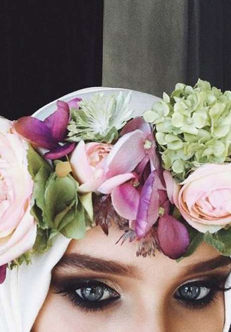 Floral Crowns for Bridal Hijab 10