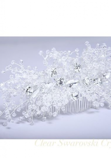 Clear Swarovski Crystal Comb by The Handmade Dealer
