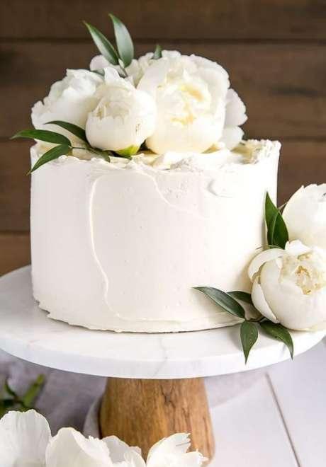 Peonies Wedding Cake 1