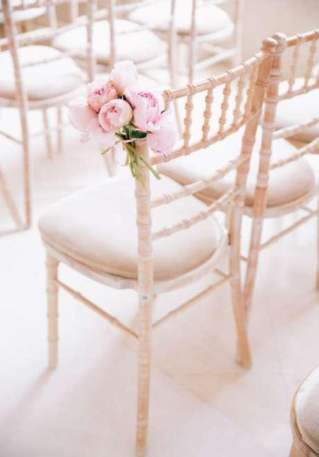 Peonies Wedding Chair 1