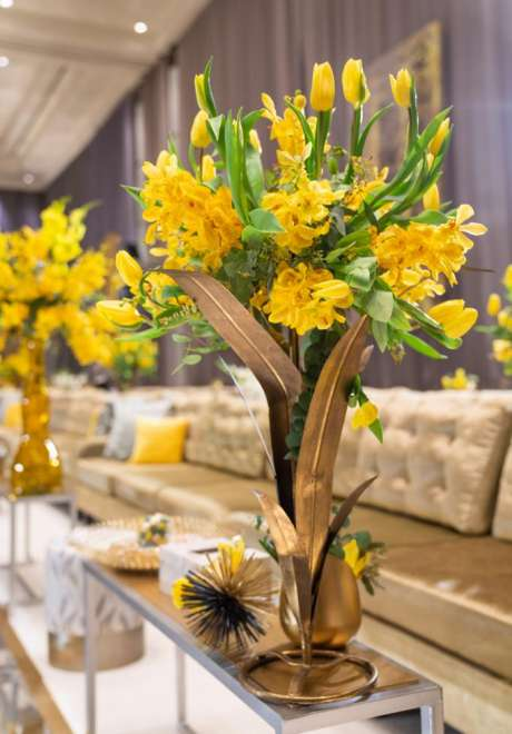 A Yellow Art Deco Luxury Wedding in Bahrain