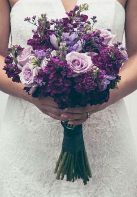 Pretty Purple Wedding Bouquets