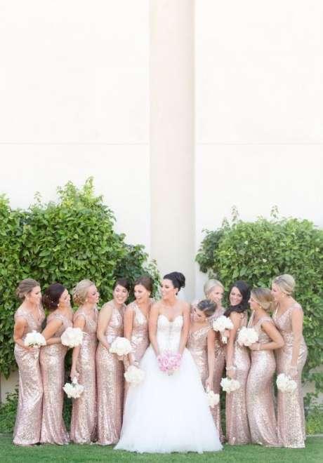 الثيم الذهبي الوردي لحفل زفافك