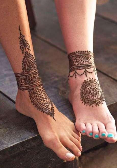 Henna Tattoo for Feet 9