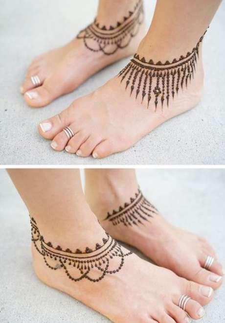 Henna Tattoo for Feet 6