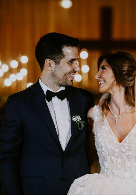 A Sparkling Golden Wedding in Lebanon
