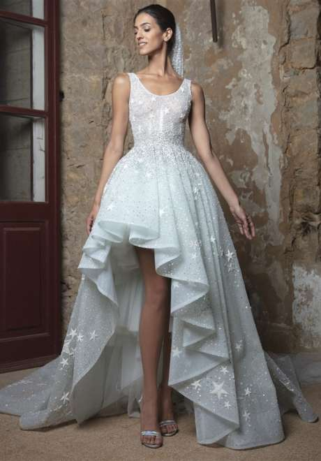 Frost Blue Bridal Gown with Stars by Rami Kadi