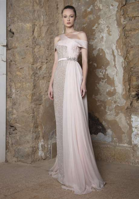 Soft Rose Fitted Dress by Rami Kadi